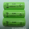 AA600mah 1.2v nimh battery for electric