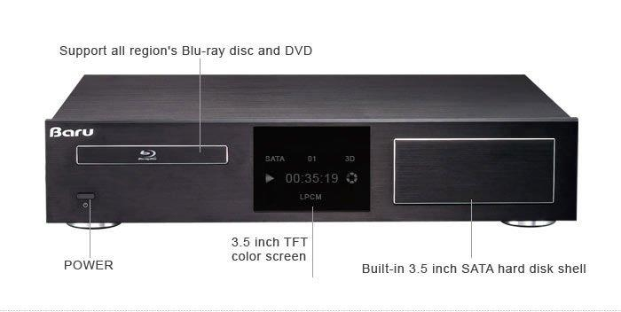 Hi-Fi home theater system Active 3D blue-ray hdd internet media player 1