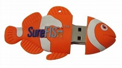 fish designed USB flash drive