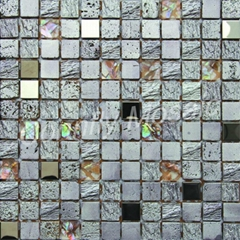 Resin and Shell Mixed Mosaic Tile