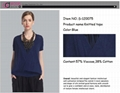 Ladies' Summer New Fashion Deep V Neck Batwing Sleeve Crossover Knitted Tops  1