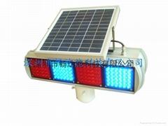 太陽能雙面四組紅籃爆閃燈