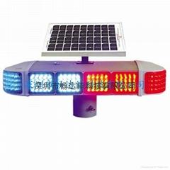太陽能四面發光爆閃燈