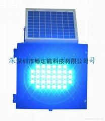 太陽能藍光爆閃燈