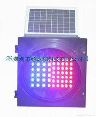 太陽能紅藍LED爆閃燈