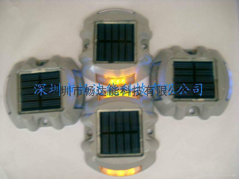 太陽能鑄鋁反光釘柱道釘燈 5