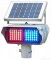 太陽能四面發光爆閃燈 3