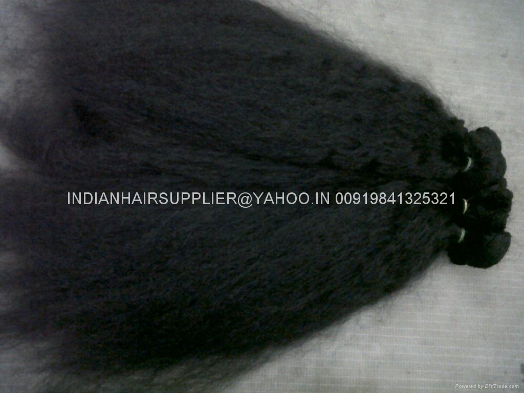 MACHINE WEFT INDIAN HUMAN HAIR EXTENSIONS - 003