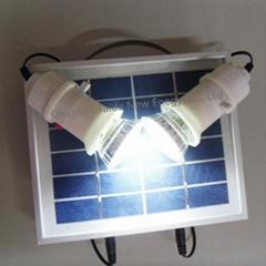 Portable 3w mini solar lighting system for home