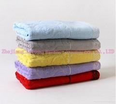 qing Bamboo fiber jacquard towel