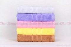 qing Bamboo fiber striped satin bath towel
