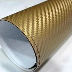 Car Wrap 3D Carbon Fiber Vinyl Film With Air Free Bubbles