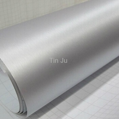 Brush Aluminum Car Wrapping Vinyl with 0.18mm Thickness