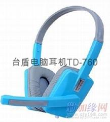 电脑耳机  头戴式耳机   台盾耳机760