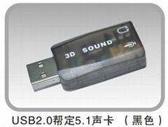 External USB 3D 5.1 AUDIO SOUND CARD Adapter