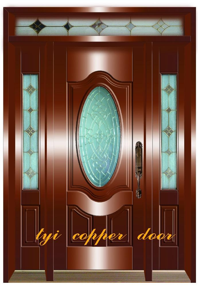 European style classic glass copper doors bw 0902 tyi for European entry doors