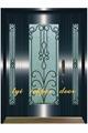 Ornamental copper steel doors