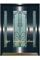 Ornamental copper steel doors