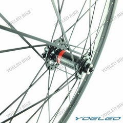 U-Shape 700C 25MM Wide Carbon Wheels Tubular 38MM with Hub for 6 Bolt Disc Brake