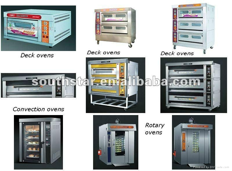 1 trolley 12 trays  of gas rotary rack oven 2