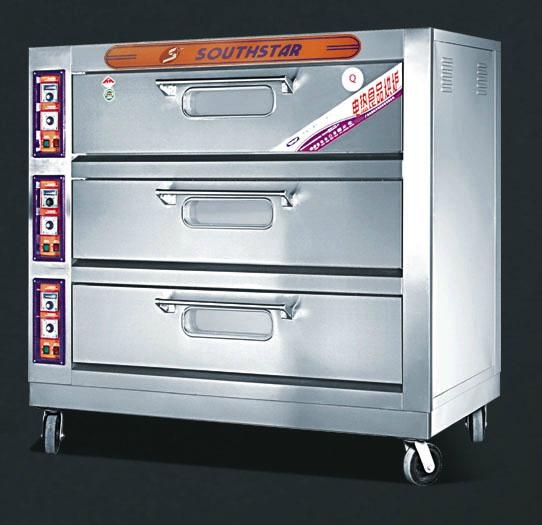 3 deck 6 trays electric deck oven 1