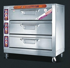 3 deck 9 trays electric deck oven