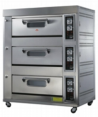 3 deck 9 trays gas oven