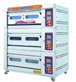 3 deck 9 trays gas deck oven
