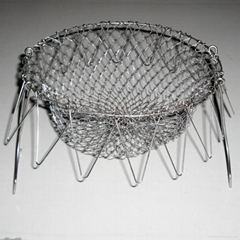 "NEW! HOT! stainless steel 304 wire chef basket for "" AS SEEN ON TV"""