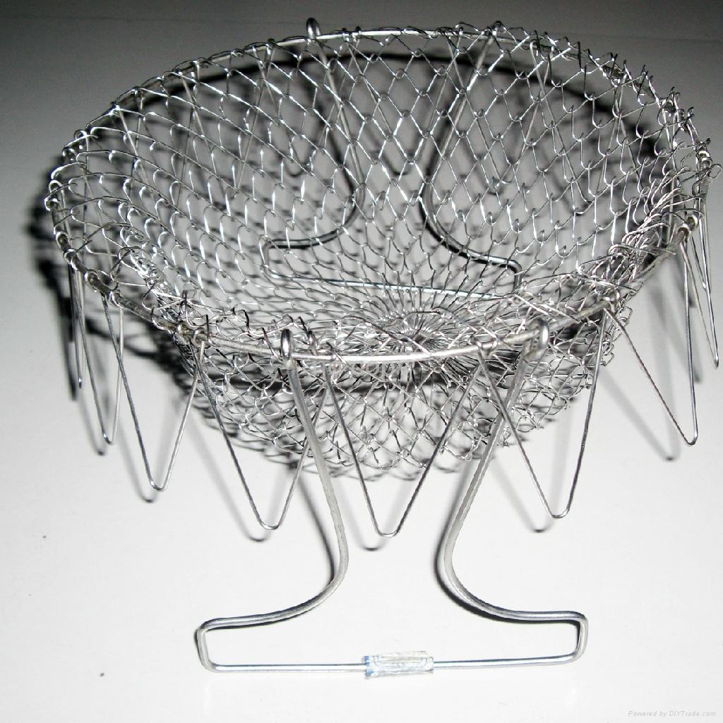 """NEW! HOT! stainless steel 304 wire chef basket for """" AS SEEN ON TV"""" 4"""