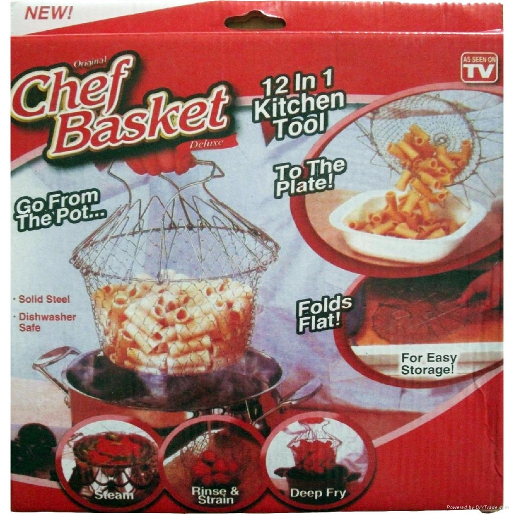 """NEW! HOT! stainless steel 304 wire chef basket for """" AS SEEN ON TV"""" 5"""