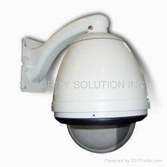 Outdoor IP Dome Camera Housing with Built-in Power Supply Fan/Heater