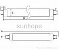 high lumens 4ft t8 smd 3528 14w led tube 2