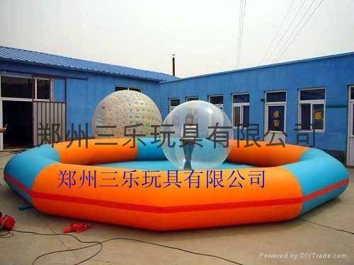 室外大型充气水池 2
