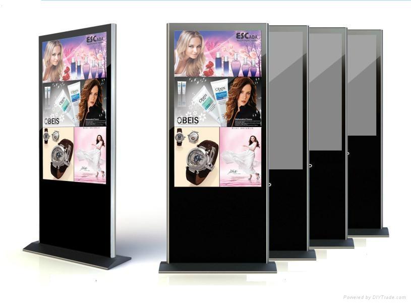 full hd LCD floor standing advertising player 1
