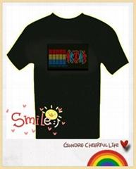 hot sale popular flashing el t shirt