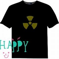 high quality el display t shirt for birthday