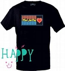 hot sale high quality various designs led t shirt shenzhen