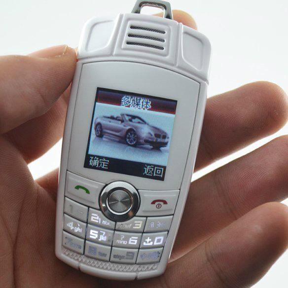 The Most mini size mobile phone BMW X6 mini car key mobile phone