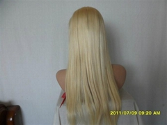 silky straight Human hair full lace wigs
