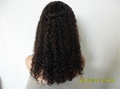 afro curly Human hair full lace wigs