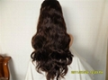 middle-wave Human hair full lace wigs