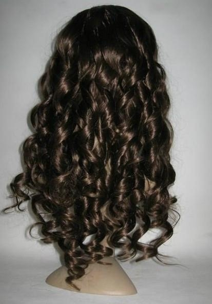 curly fashion style human hair lace wigs 1