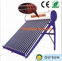 Compact Pressurized Copper Coil Pre-heated Solar Water Heater