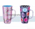 insert paper /pvc mug with handle