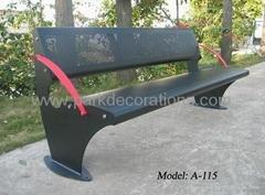 钢板冲孔户外休闲椅