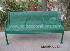 钢板冲孔休闲椅
