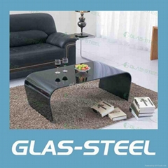 Modern Bent Glass Center Table WC-CJ151