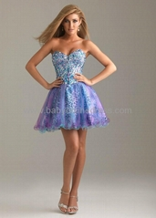 Sexy Sweetheart Mini Rhinestones Tulle Cocktail Dress