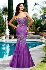 New Sexy Sweetheart Mermaid Rhinestones Evening Dresses